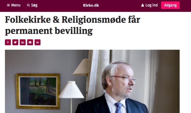 Folkekirke og Religionsmøde får permanent bevilling
